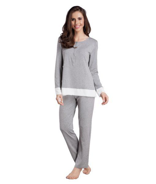 Pijama com Detalhe na Barra