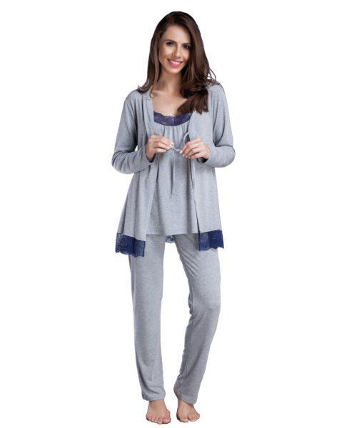 Pijama Mescla 3 Peças