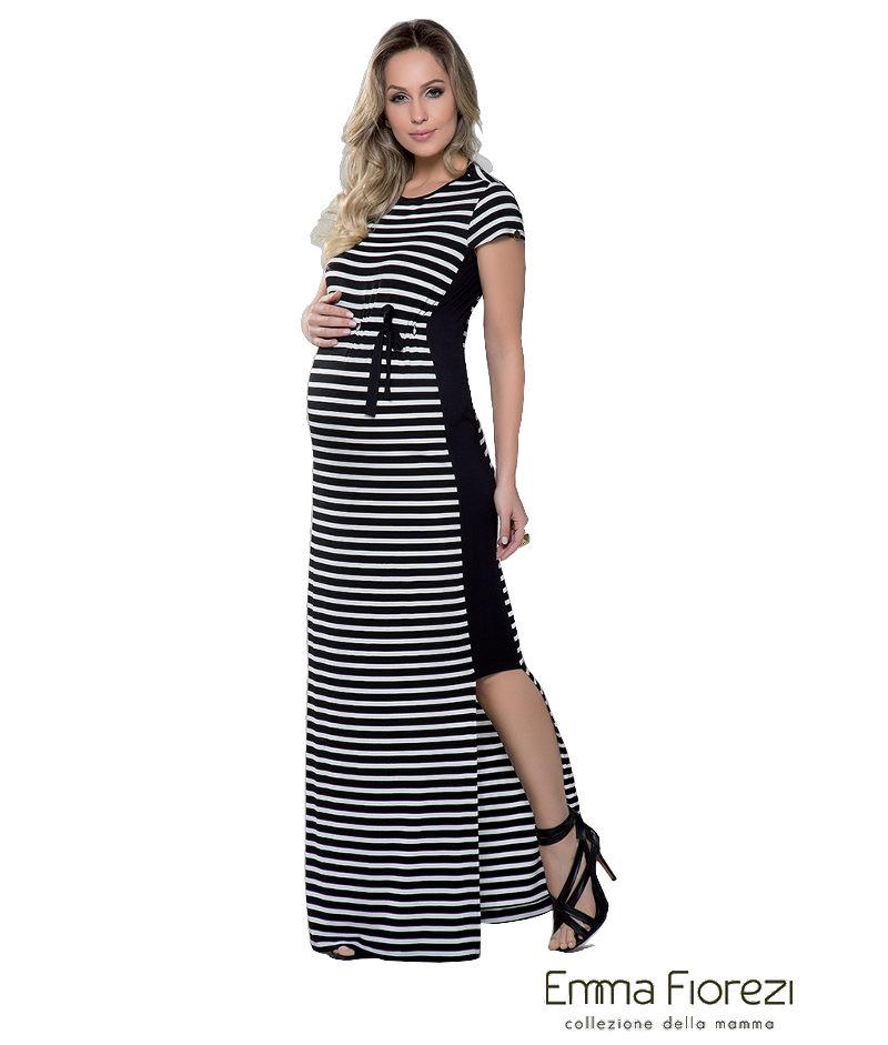 0d51d8162 Vestido Longo Listrado - Belly Home - Loja Online
