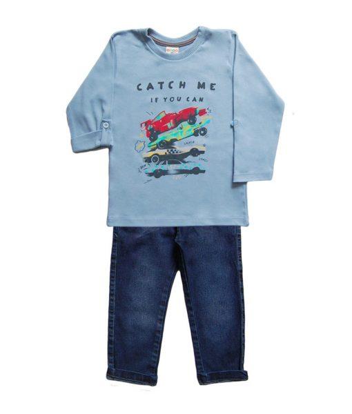 Conjunto Jeans e Camiseta