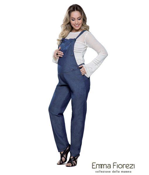 Macacão Jeans com Cós de Elástico