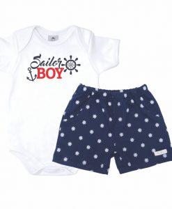 Conjunto Body Sailor Boy