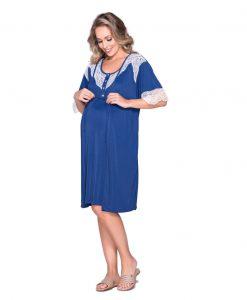 Conjunto Camisola e robe azul