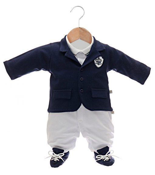 Macacão com casaco bebê menino