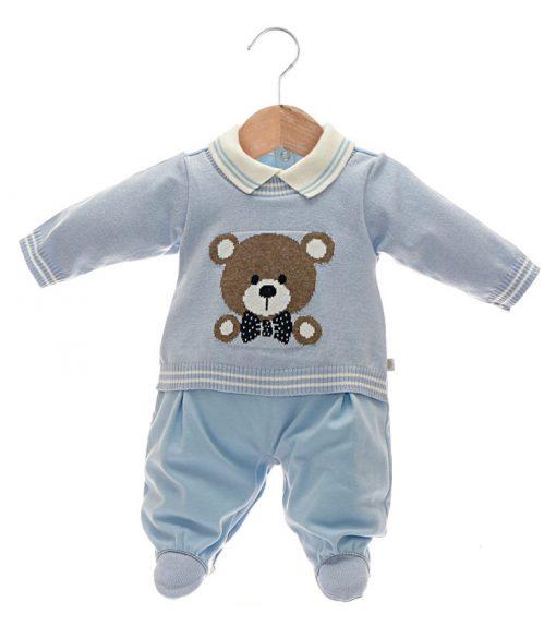macacão tricot bebê menino