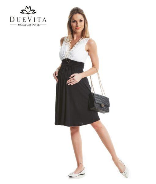 vestido curto gestante