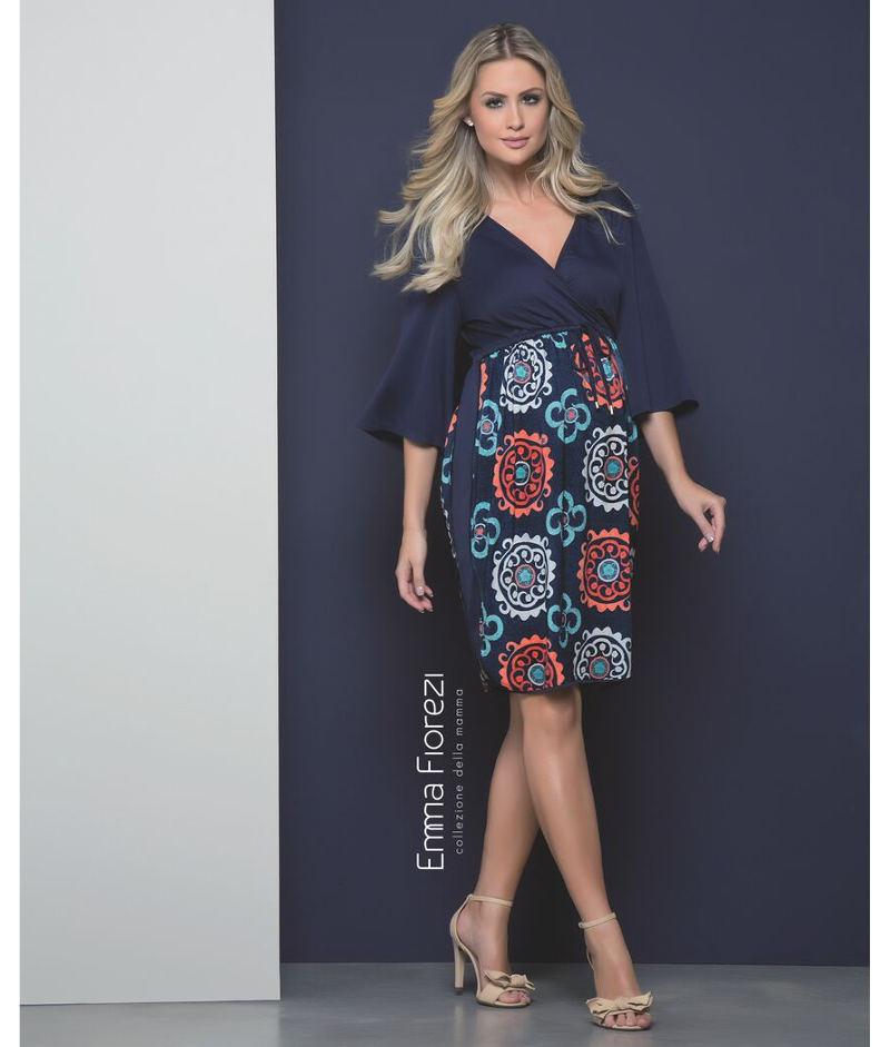 1e8171dc7 Vestido Amamentação com Recorte Lateral - Belly Home - Loja Online