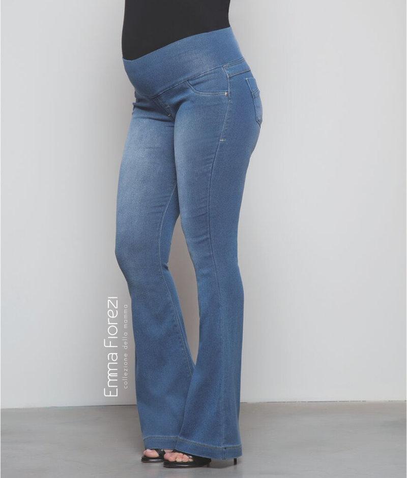 cbf4694b4e200c Calça Jeans Flare com Pespontos Finos - Belly Home - Loja Online