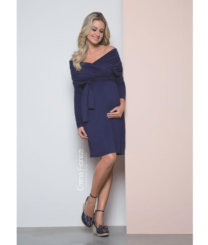 201b6bf797 Vestido Amamentação Transpasse no Busto - Belly Home - Loja Online