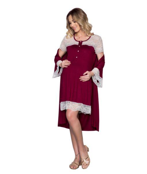 Camisola com robe gestante