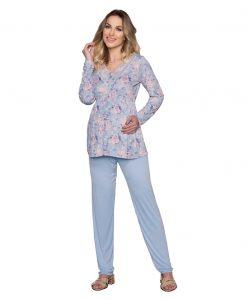 Pijama estampado gestante