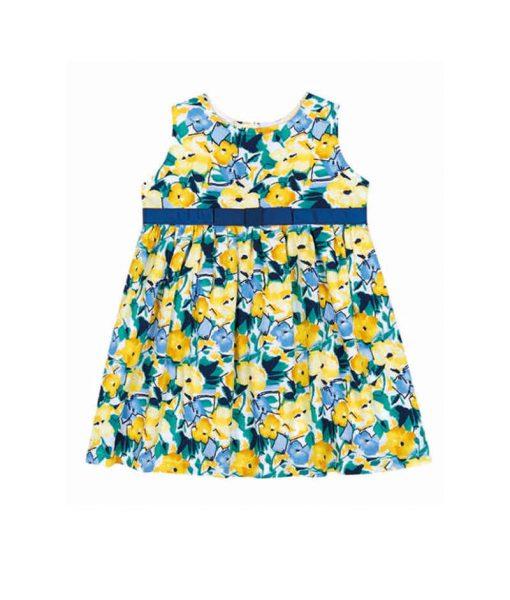 moda-bebê-vestido-floral-azul