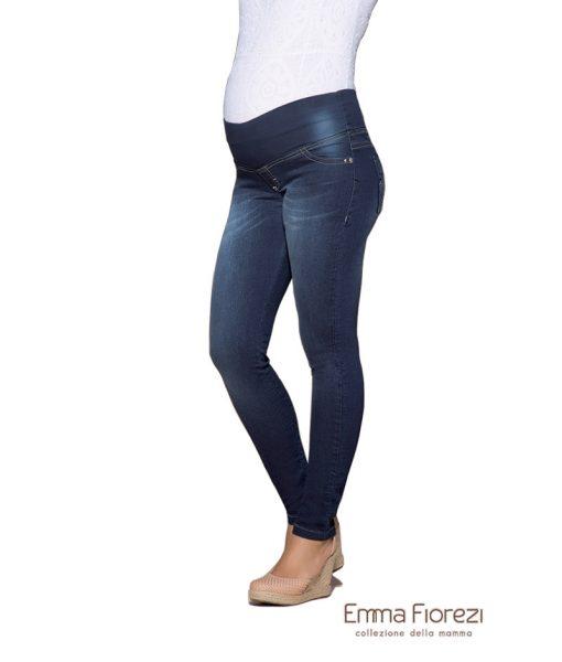 Calça gestante slim com pesponto largo