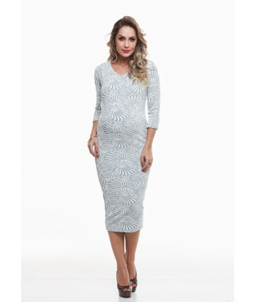 Vestido bodycon white gestante