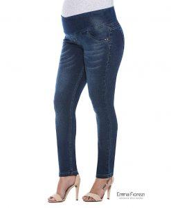 Calça Slim Jeans gestante