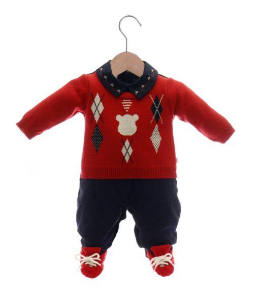 macacão tricot menino