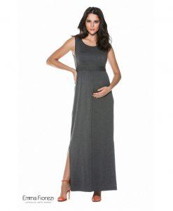 Vestido longo com cropped gestante