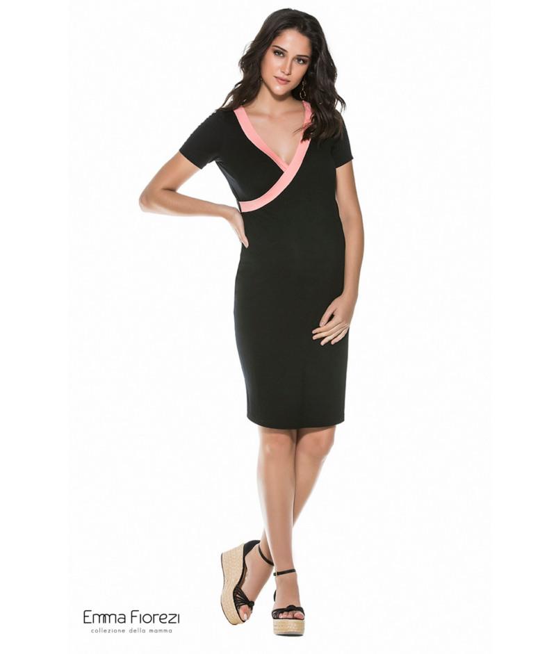 5851937b5 Vestido Amamentação Justo Transpassado - Belly Home - Loja Online
