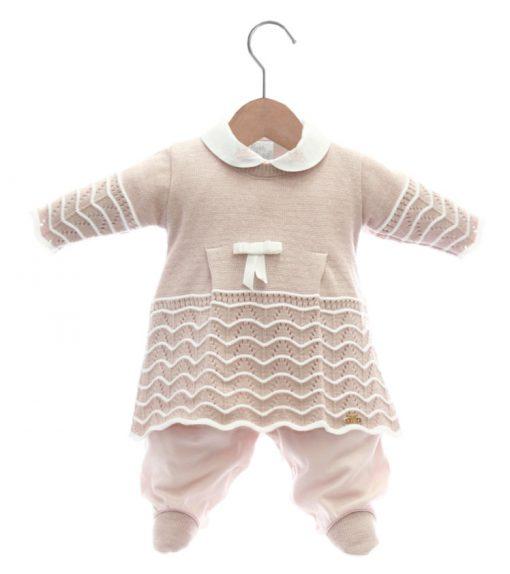 vestido e macacão tricot menina