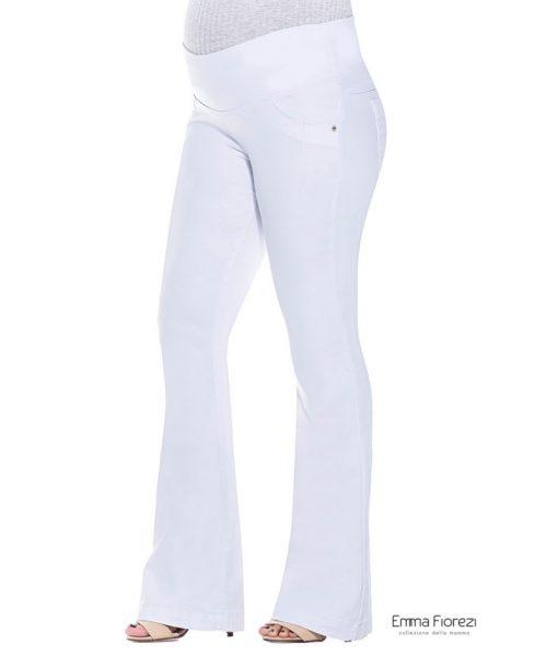 Calça Flare branca gestante