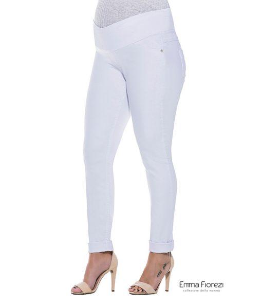 Calça Slim branca gestante