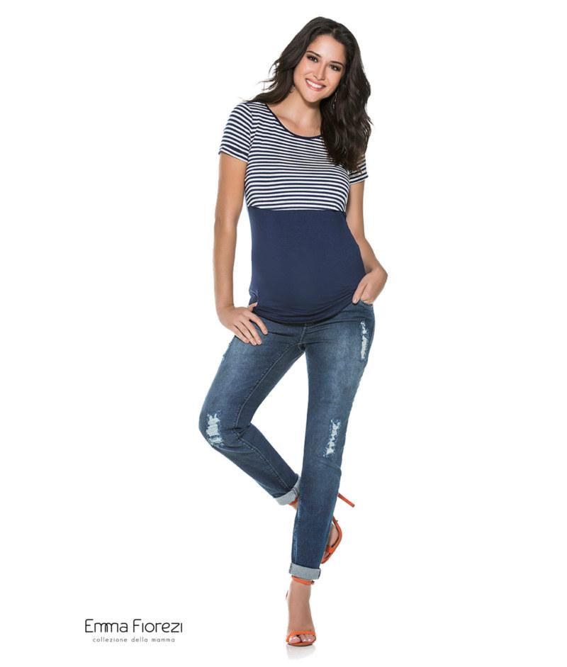 797d97601 Camiseta Amamentação Listrada - Belly Home - Loja Online