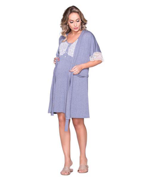 Conjunto camisola e robe