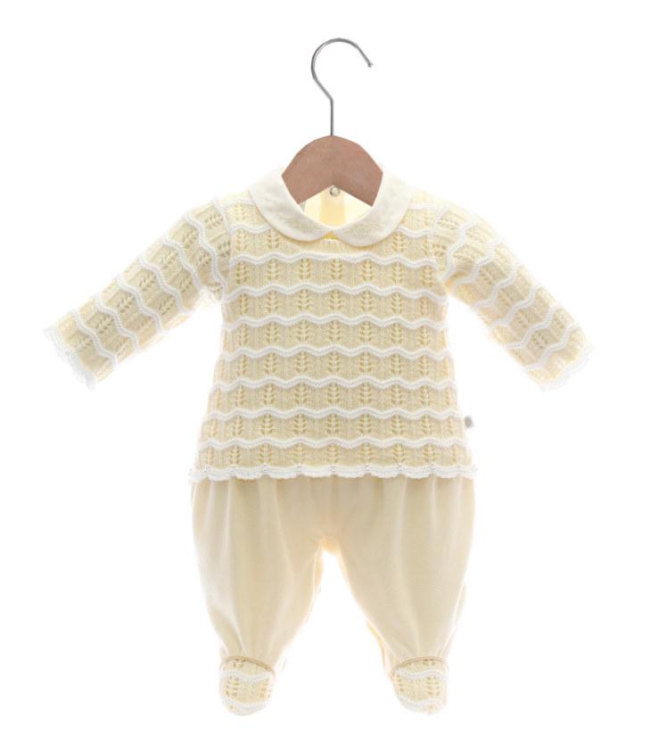 Macacão Tricot Maria Vitoria Amarelo - Belly Home - Loja Online fd2a8938c36