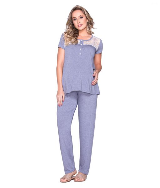 Pijama bata e calça