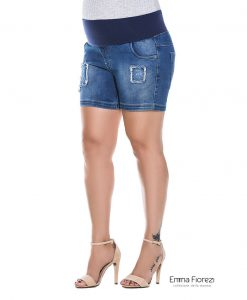 Shorts jeans destroyer gestante