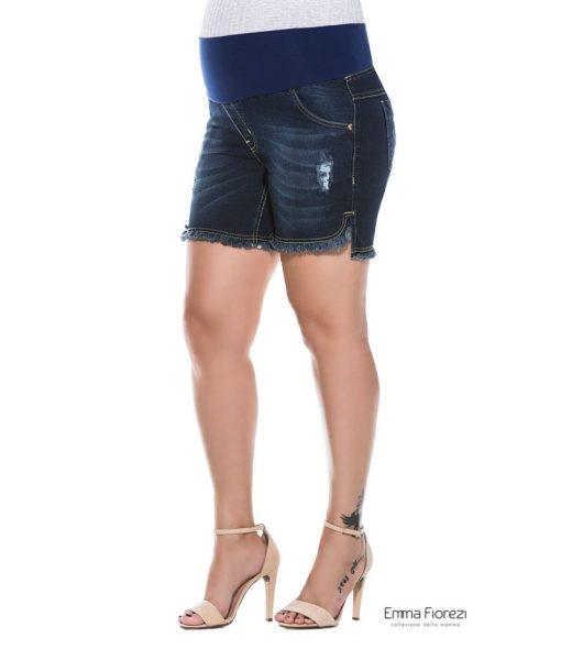 Shorts jeans mullets gestante