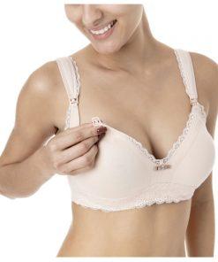 Sutiã amamentação com alça soft nude detalhe