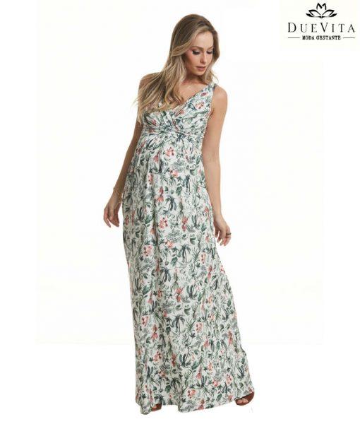 Vestido longo gestante