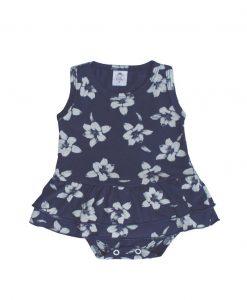Body duas saias floral menina
