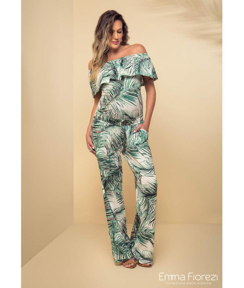 fb671cec94 Calça Pantalona de Malha Estampada - Belly Home - Loja Online