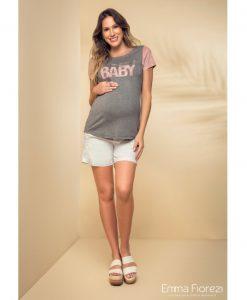 Camiseta com aplicação Baby gestante