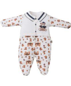 Macacão urso marinheiro bebê menino