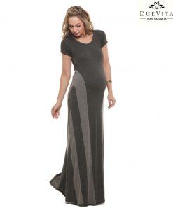 Vestido Longo recortes gestante