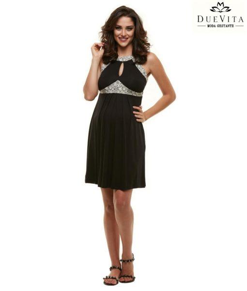 Vestido glamour gestante