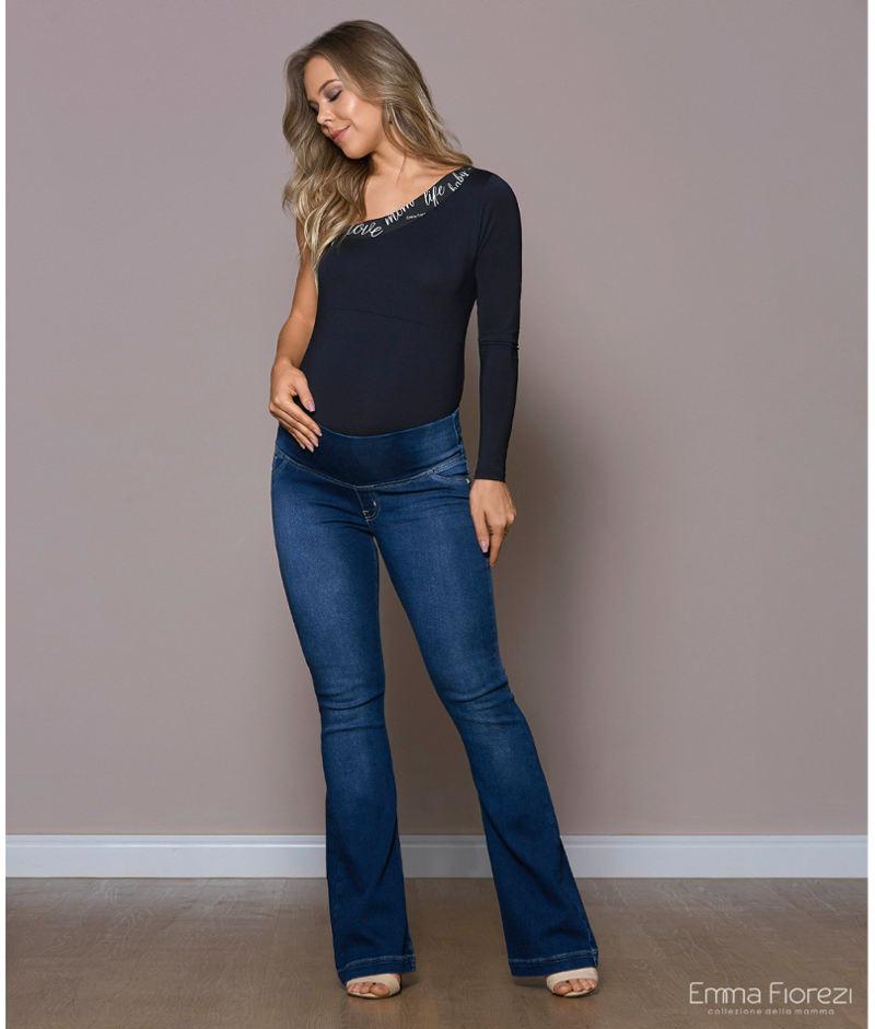 c91a69ffb4f376 Calça Flare Jeans Moletom