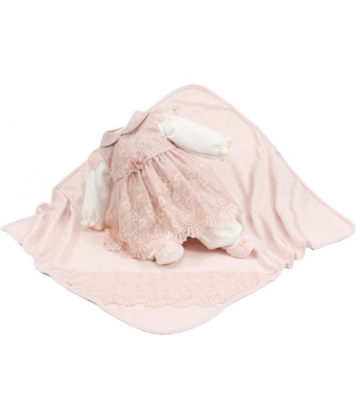 kit maternidade macacão com vestido e manta Duda