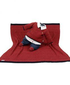 kit maternidade tricot manta e macacão arthur