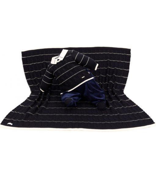 kit maternidade tricot manta e macacão isaac