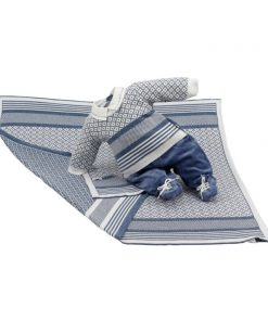 kit maternidade tricot manta e macacão pedro