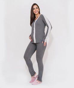 pijama com ziper mescla