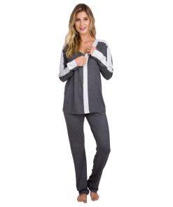 Pijama com ziper gestante
