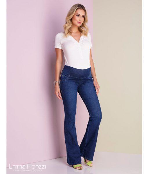 Calça Flare Jeans Gestante