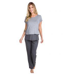 Pijama Amamentação com cropped
