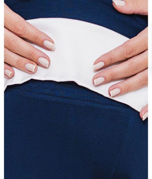 pijama marinho com detalhe em cetim cos
