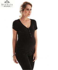 Camiseta Manga curta gestante preta